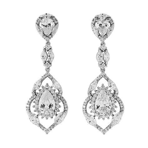 Cubic Drop Earring cubic zirconia bridal drop earrings bridal jewellery
