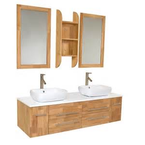 wood bathroom vanities 59 inch wood modern vessel sink bathroom
