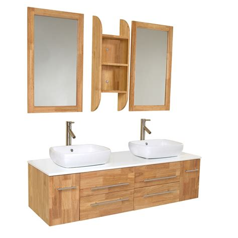 bathroom vanity wood 59 inch wood modern vessel sink bathroom