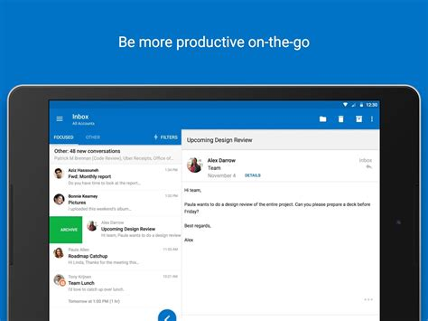 outlook for android review outlook app for android updated with support for mentions