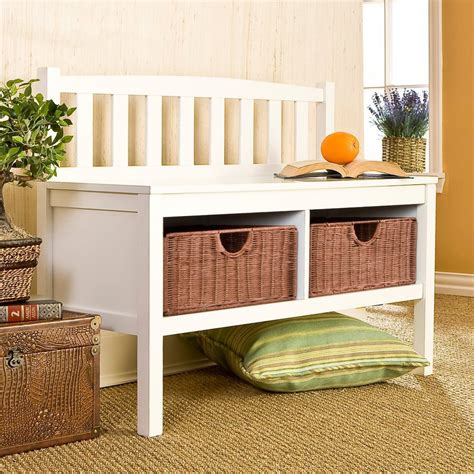 white storage benches shop boston loft furnishings country white storage bench at lowes com
