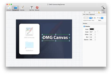 canvas layout editor dmg canvas disk image layout and building for mac os x