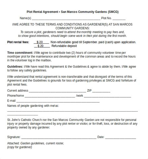 rental agreement template free word rental agreement templates 17 free word pdf documents