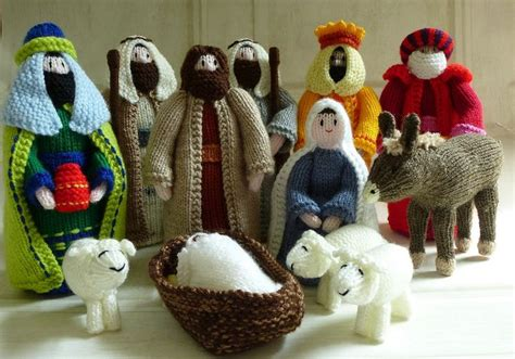 knitting pattern nativity hand knitted nativity set including donkey donkey etsy