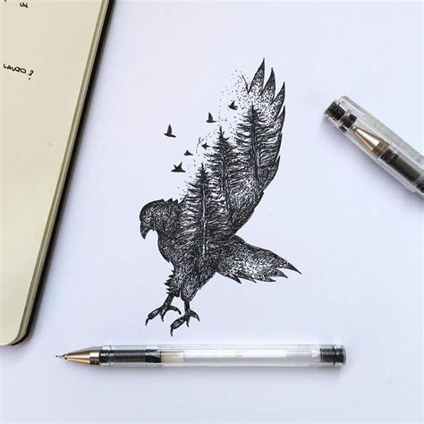 Animal Tattoo Pen | nature was my kindergarten that inspired these black pen