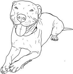 pitbull coloring pages free pit bull line 2 by wolfie undead on deviantart