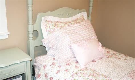 shabby chic girls bedroom furniture simply projects shabby chic headboard and foot board makeover