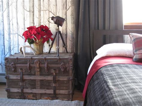 Eclectic Rustic Decor by Rustic Chic Masculine Bedroom Design Eclectic Bedroom