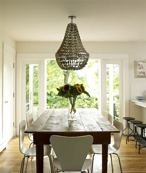 Farmhouse Dining Room Lighting Manuel Canovas Trellis Wallpaper Contemporary Dining Room Lonny Magazine