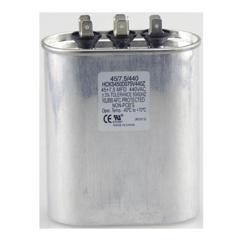 30 microfarad capacitor packard 440 volt 30 5 mfd dual motor run capacitor trcfd305 the home depot