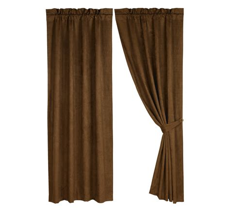 brown panel curtains pungo ridge brown micro suede curtain panel curtains
