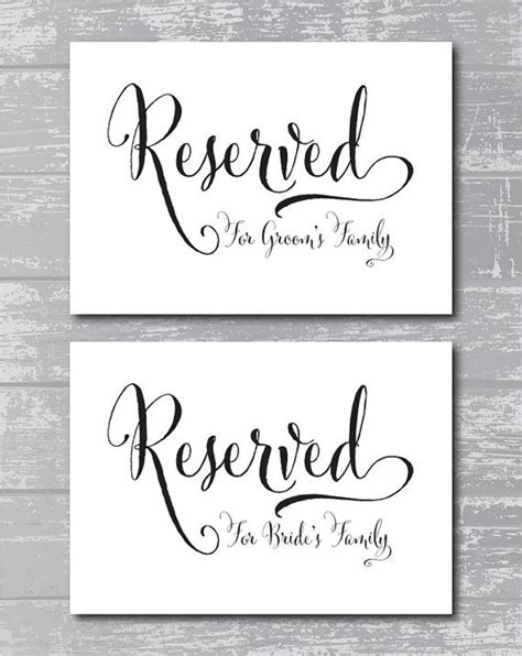 Reserved Table Sign Template Modern Coffee Tables And Accent Tables Table Sign Template