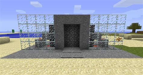 Redstone Doors by Redstone Automatic Piston Door Minecraft Project