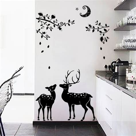tree silhouette wall stickers buy wholesale silhouette tree wall decal from china