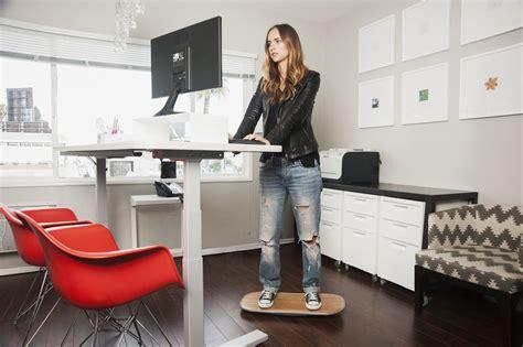 diy standing desk  balance board  ease neck