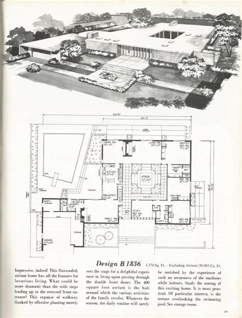 1960s house plans vintage house plans new and refreshing mid century