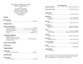 Best photos of sample church program outline church wedding program