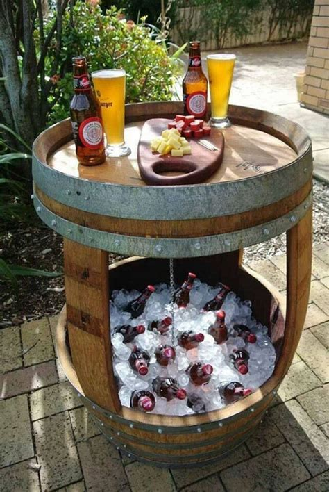 Wine Barrel Patio Table 20 Diy Ways To Wine Barrel Projects Home Design And Interior
