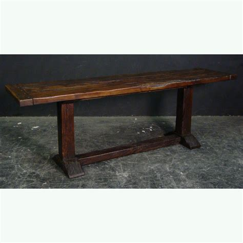Rustic Narrow Dining Table Rustic Oak Finish Narrow Refectory Table