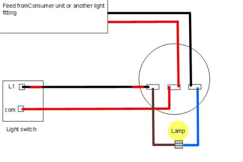 How To Wire A Ceiling Light And Switch Light Wiring Diagrams Light Fitting