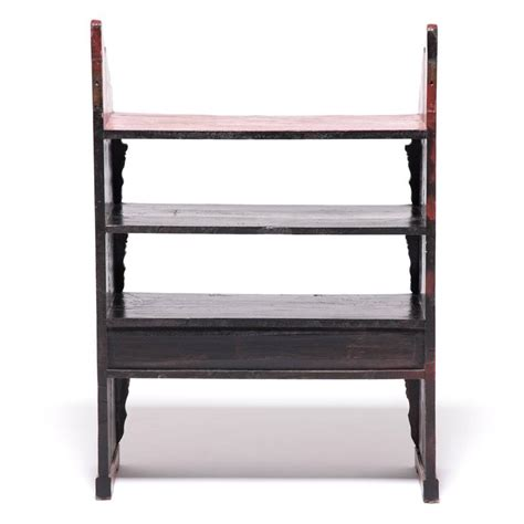 Collector Shelf by Three Drawer Lacquer Collector S Shelf At 1stdibs