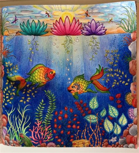 secret garden colouring book fishpond inspirational coloring pages from secret garden enchanted