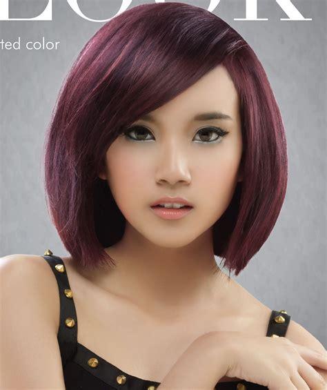 gaya rambut pendek wanita korea terbaru model rambut