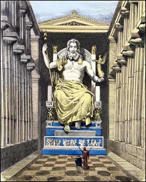 imagenes de la estatua del dios zeus la estatua de zeus en olimpia