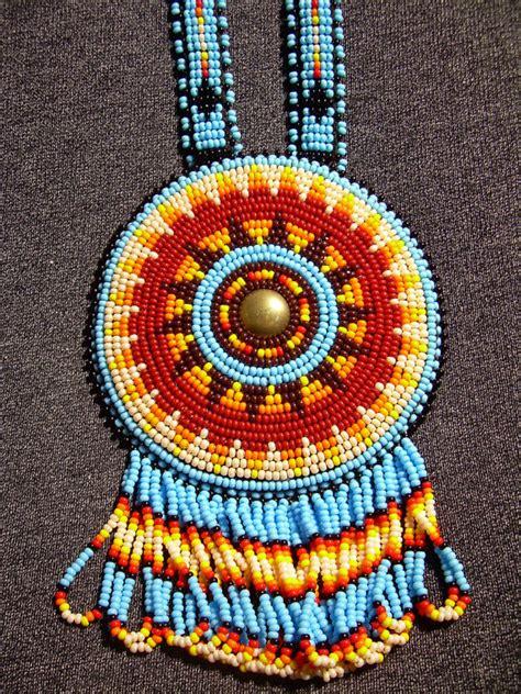beaded rosettes patterns beaded medallion rosette lakota american by