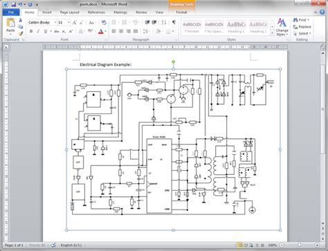 create circuit diagram for word