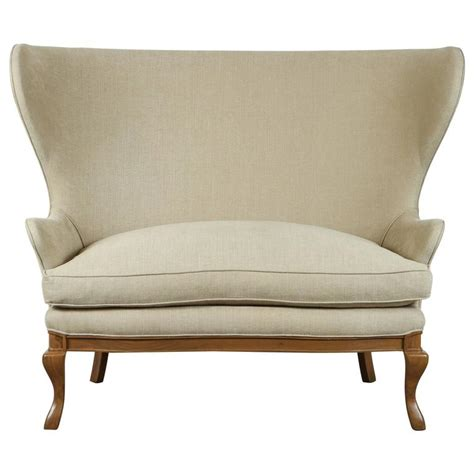 wingback settee highland wingback settee by lawson fenning at 1stdibs