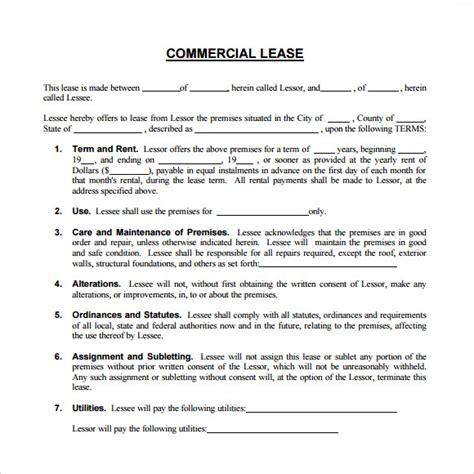 sample commercial rental agreement cnbam