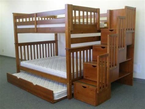 bedkings full  full  twin trundle  stairway
