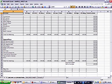 income expenditure spreadsheet template best photos of sle income and expense sheet personal