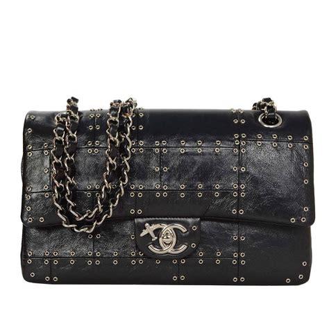 Chanel Bag Sova Studed 0161 1 chanel 16 black calfskin studded airlines medium classic flap bag s at 1stdibs