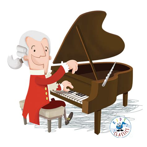 mozart biography cartoon doodlemoose designs kids music illustrations