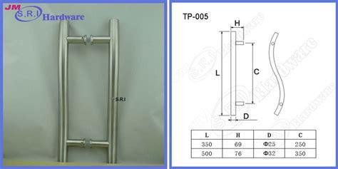 Commercial Exterior Door Hardware 304 Stainless Steel Exterior Pull Door Handles Sided Door Pull Handle For Commercial Door