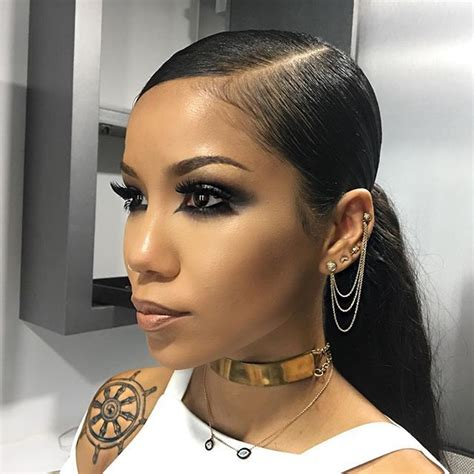 Black Ponytail Hairstyles by Jhene Aiko Is So Lovely Hair Styles