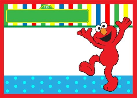 Start Your Party With Sesame Street Birthday Invitations Elmo Birthday Invitations Template Free