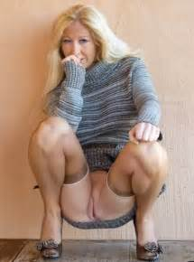 blonde milf upskirt no panties 300x404 size