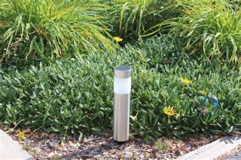 solar garden lights dubai 4 pack garden solar bollard light with white led