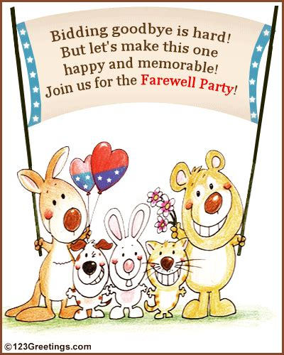 farewell party invitation free save the date ecards