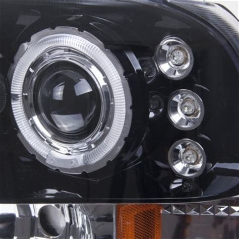 2003 ford f350 super duty smoked halo projector headlights