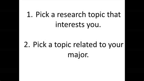 how to choose a topic for research paper how to choose a paper or research topic