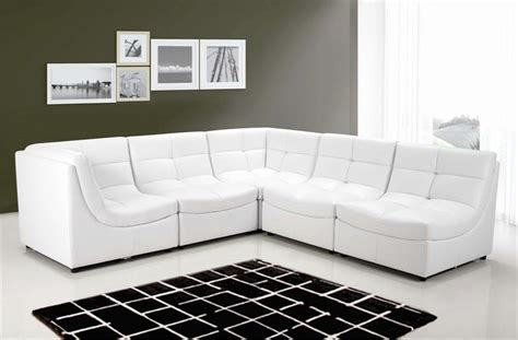 Z Gallerie Blanco Sectional White Leather Sofa Z Gallerie Leather Sofa
