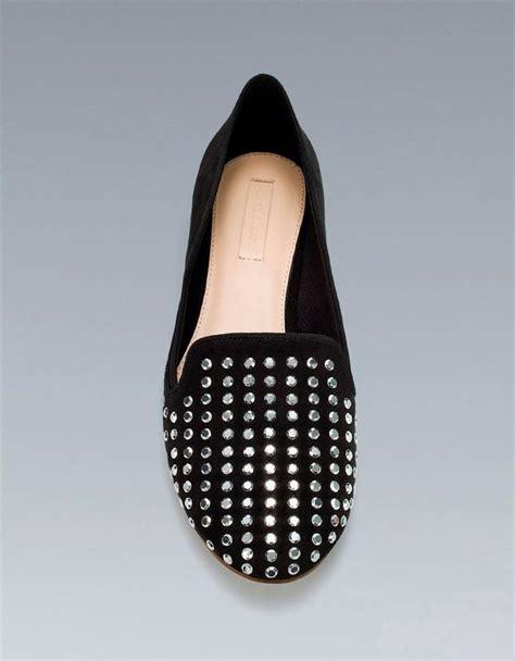 zara slipper shoes zara studded slipper flats shoes black taupe ebay