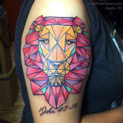 colorful geometric tattoos studio color geometric