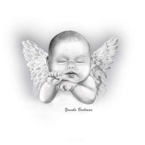 baby angel tattoo with stars baby wings leave a reply cancel reply