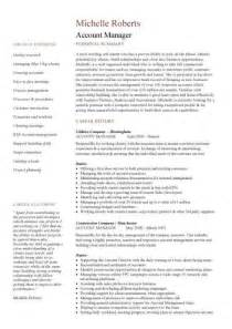 Resume Sample Account Manager by Account Manager Cv Template Sample Job Description