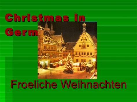 weihnachten tradition in germany